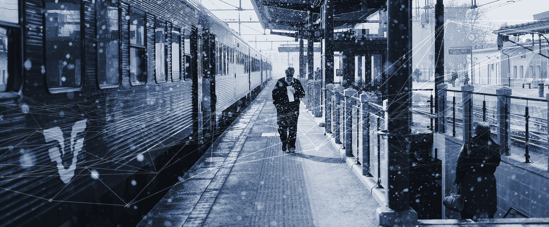 Train station and train driver