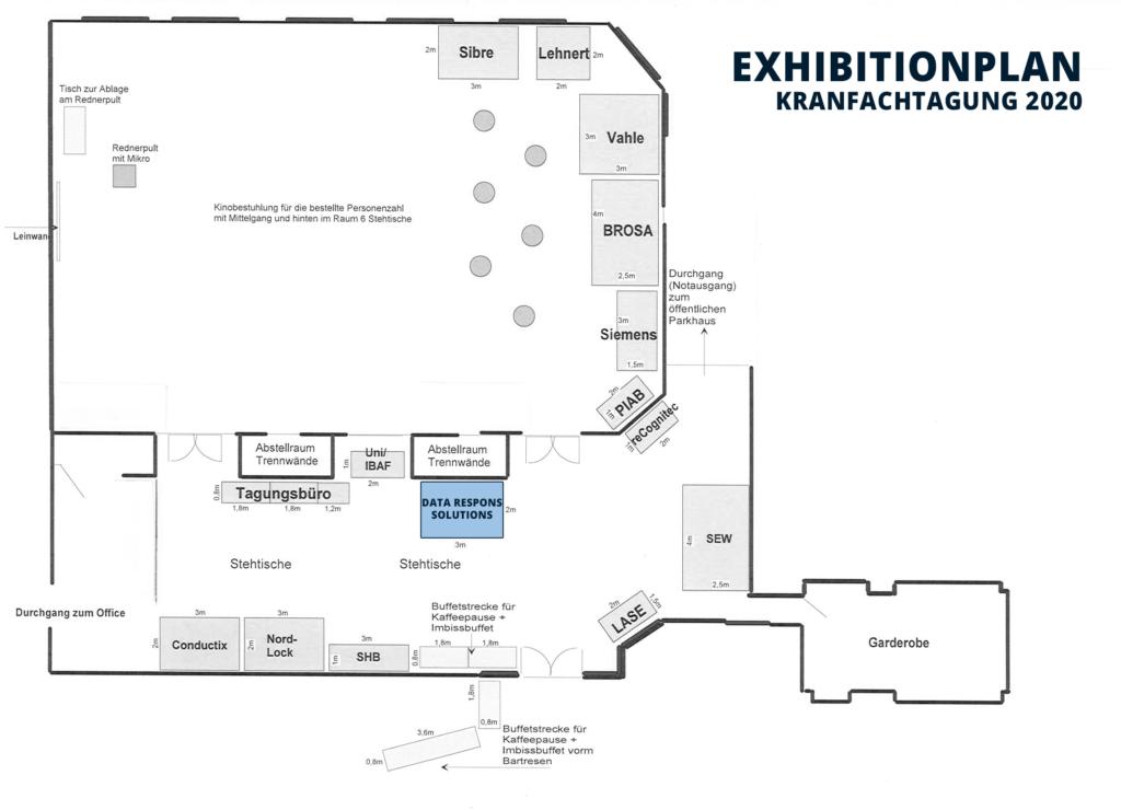 Kranfachtagung 2020 - Exhibitionplan