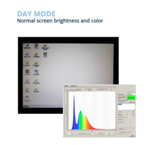 Normal screen brightness and color