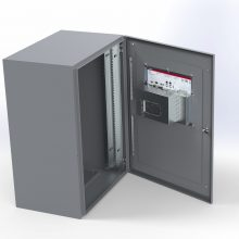 Panel mount inside cabinet