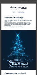 Newsletter 12 2020 - Seasons's Greetings from Data Respons Solutions