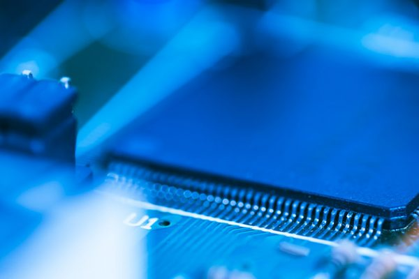 Component lead times rising. Components on electronic circuit board
