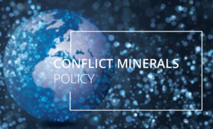 Conflict Minerals Policy. Blue globe