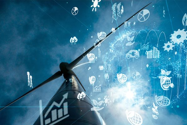 Windmill and sustainable icons