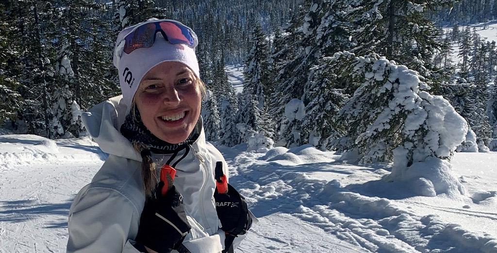 Ine Andersen cross-country skiing