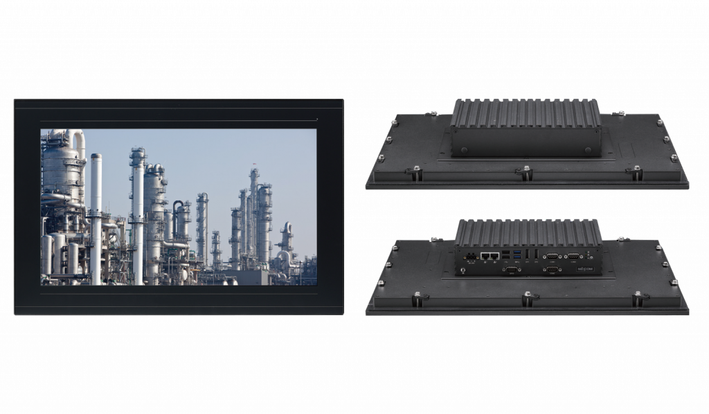 Fanless 18.5-Inch industrial Panel-PC with 10 points P-Cap multi-touch and zero bezel front design - IPPC 1880P