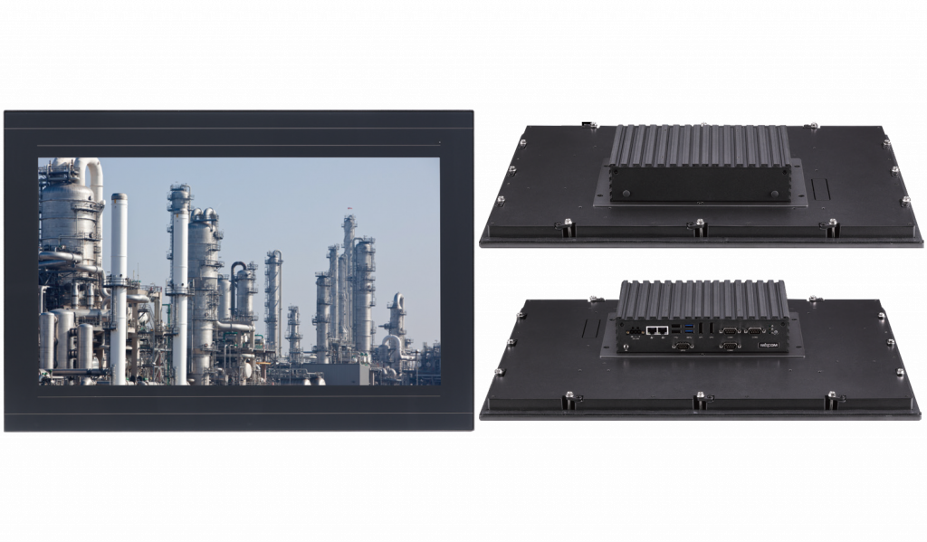 Fanless 21.5-Inch industrial Panel-PC with 10 points P-Cap multi-touch and zero bezel front design - IPPC 2180P
