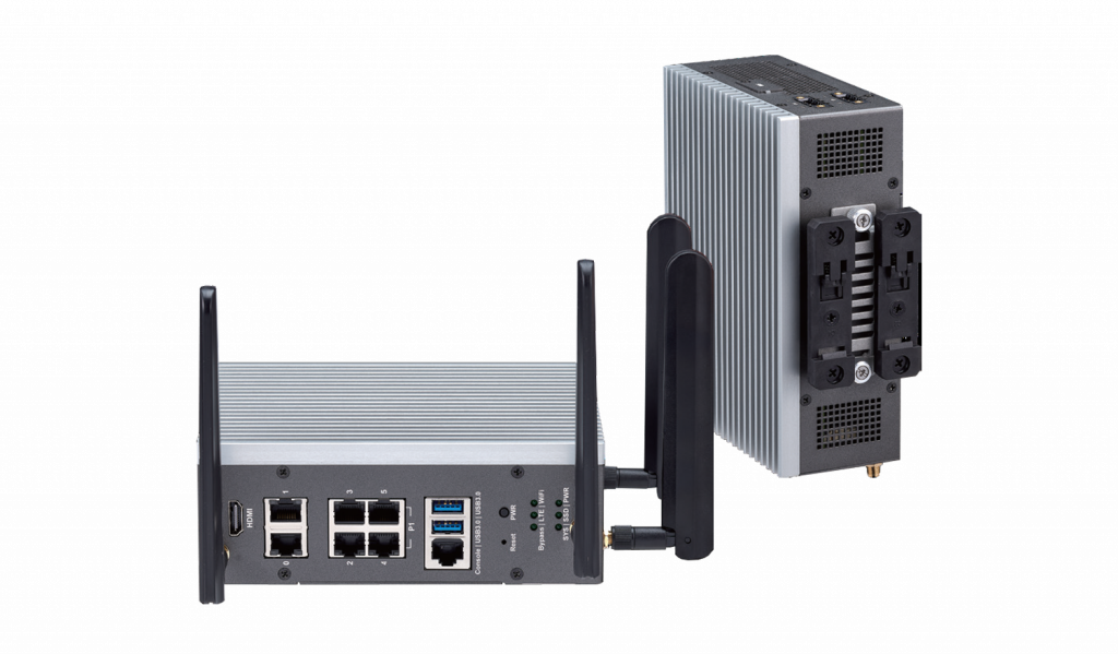 Fanless Industrial Security Appliance in a Compact DIN Rail Form Factor with Intel Atom® Processor and 6x 1GbE RJ45 Ports - ISA 140